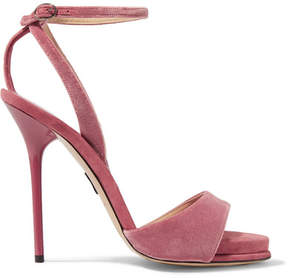 Paul Andrew Clara Velvet Sandals - Antique rose