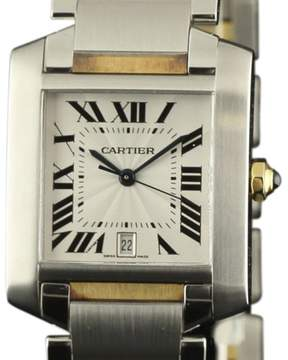 Cartier Tank Francaise W51005Q4 Stainless Steel & 18K Yellow Gold Automatic 32mm Mens Watch