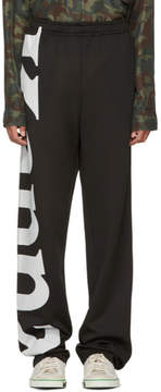 Faith Connexion Black Kappa Edition Baggy Lounge Pants