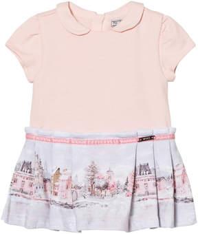Mayoral Pale Pink Landscape Print Dress