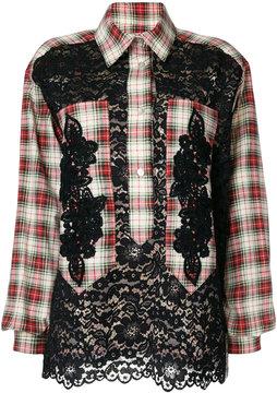 Antonio Marras embroidered checked shirt
