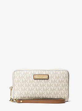 Michael Kors Jet Set Travel Logo Smartphone Wristlet - NATURAL - STYLE