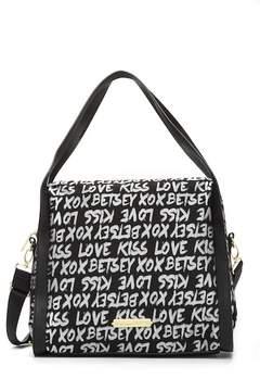 Betsey Johnson Jaquard Logo Hobo Bag