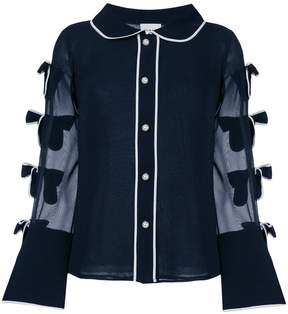Edward Achour Paris bow-embroidered shirt