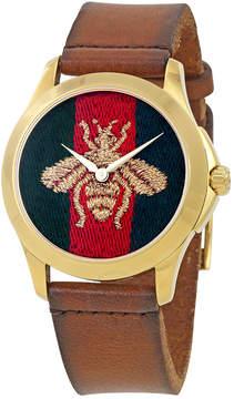 Gucci Le Marche Des Merveilles Red and Green Nylon Dial Men's Watch