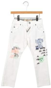 John Galliano Boys' Embroidered Skinny Jeans