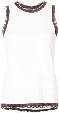 Derek Lam 10 Crosby Sleeveless Shell With Rib Trim