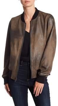 Blanc Noir Vintage Faux Suede Velvet Reversible Bomber Jacket