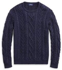 Ralph Lauren The Iconic Fisherman's Sweater Navy Xs