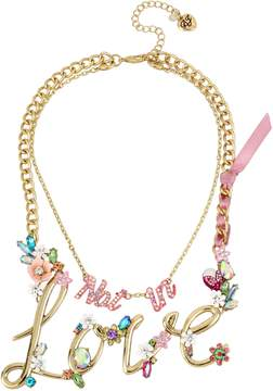 Betsey Johnson BLOOMING BETSEY LOVE PENDANT
