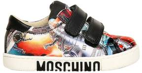 Moschino Transformers Nappa Leather Sneakers