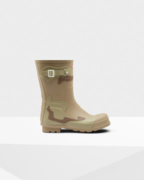 Hunter Men's Original Short Layered Desert Camo Rain Boots