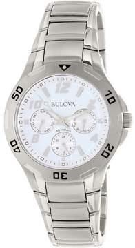 Bulova Marine Star Multi-Function Silver Dial Mens Watch 96C32