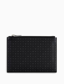 Calvin Klein leather logo zip pouch