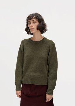 A.P.C. Stirling Wool Sweater Khaki Size: X-Small