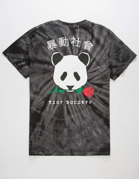 Riot Society Panda Rose Mens T-Shirt