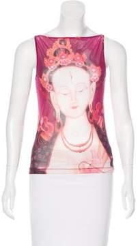 Vivienne Tam Sleeveless Printed Top