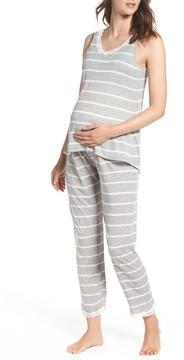 Belabumbum Women's Maternity/nursing Tank Pajamas