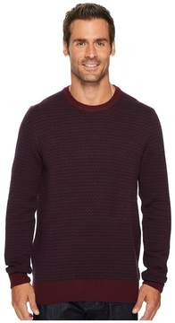 Perry Ellis Herringbone Crew Neck Sweater Men's Sweater