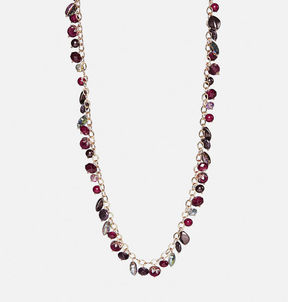 Avenue Plum Velvet Shaker Necklace