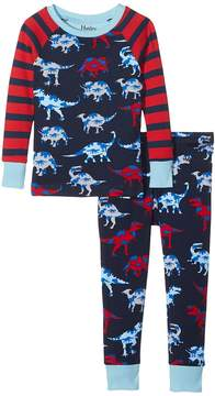 Hatley Lots of Dinos Raglan PJ Set Boy's Pajama Sets