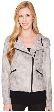 Blanc Noir Hooded Moto Jacket Women's Coat