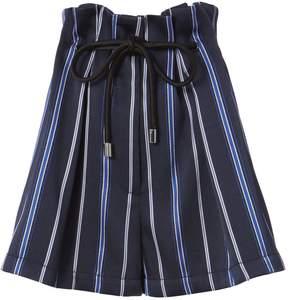 3.1 Phillip Lim Striped Paperbag Waist Shorts