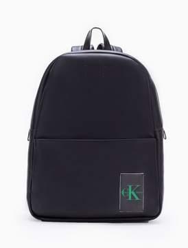 Calvin Klein monogram logo natural grain campus backpack