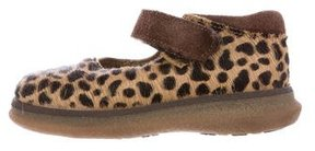 Dolce & Gabbana Girls' Ponyhair Cheetah-Patterned Flats