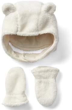 Gap Cozy bear hat and mitten set