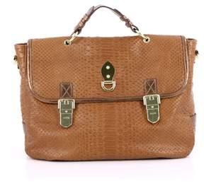 Mulberry Pre-owned: Tillie Satchel Python Embossed Leather Medium.