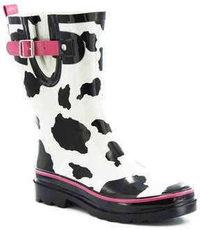 Western Chief Women's Cow Spot City Mid Rain Boots