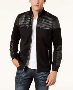 INC International Concepts Men's Mixed-Media Faux Fur Lined Bomber Jacket, Created for Macy's