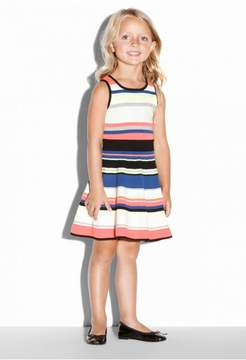 Milly Minis Striped Fit And Flare