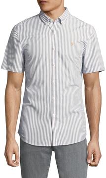 Farah Men's Sydling Cotton Striped Sportshirt