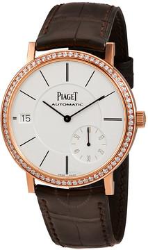 Piaget Altiplano Silver Dial 18K Rose Gold Diamond Men's Watch