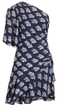 A.L.C. Misha Print One-Shoulder Silk Dress