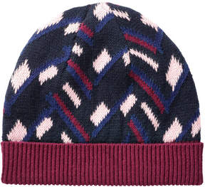 Joe Fresh Women's Geo Pattern Hat, Fuchsia (Size O/S)