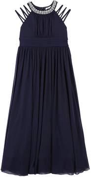 Speechless Girls Plus Size Jewel High Neck Cutout Sleeve Maxi Dress