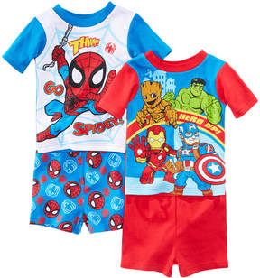Marvel Marvel's Superhero Adventures 4-Pc. Cotton Pajama Set, Toddler Boys