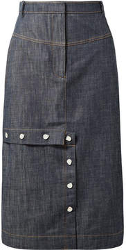 Tibi Jamie Denim Skirt - Dark denim