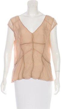 Mulberry Silk Short Sleeve Top