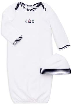 Little Me Boys' Sailboat Gown & Hat Set - Baby