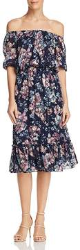 Adrianna Papell Off-the-Shoulder Floral Dress