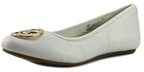 MICHAEL Michael Kors Faye Ria Round Toe Synthetic Flats.
