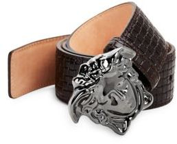 Versace Quilted Leather Belt