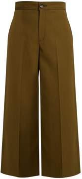 Joseph Fitz wide-leg wool-blend cropped trousers
