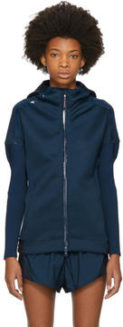 adidas by Stella McCartney Navy ZNE Flatknit Hoodie