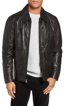 Andrew Marc Hanover Leather Shirt Jacket
