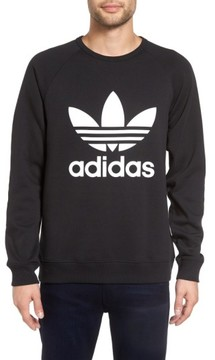 adidas Men's Slim Fit Trefoil Logo Crewneck Sweatshirt